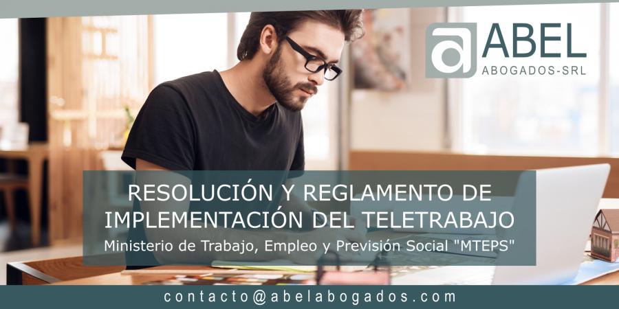 Resolución y Reglamento de Implementación del Teletrabajo